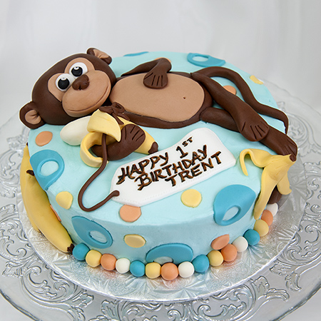 Monkey Cake Design Easy : RMC Cake Creations - Perth, ON - Birthday Cakes